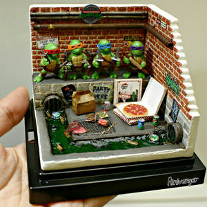 Mini TMNT Sewer Diorama by minivenger