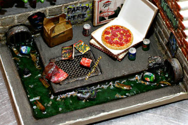 Close-up of Pizza Party