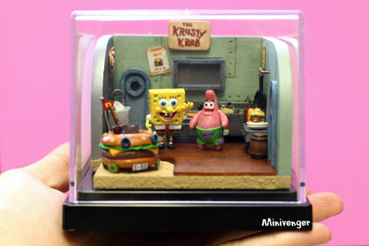 Krusty Krab kitchen diorama