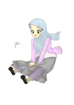 Fly over the Sky! - Muslim Girl