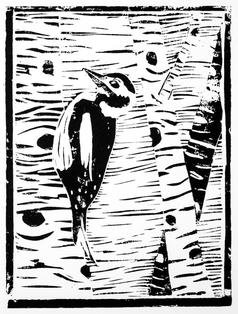 Woodpecker by Avalaa
