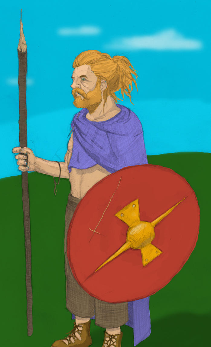 Germanic Warrior Germanic warrior by ekurt