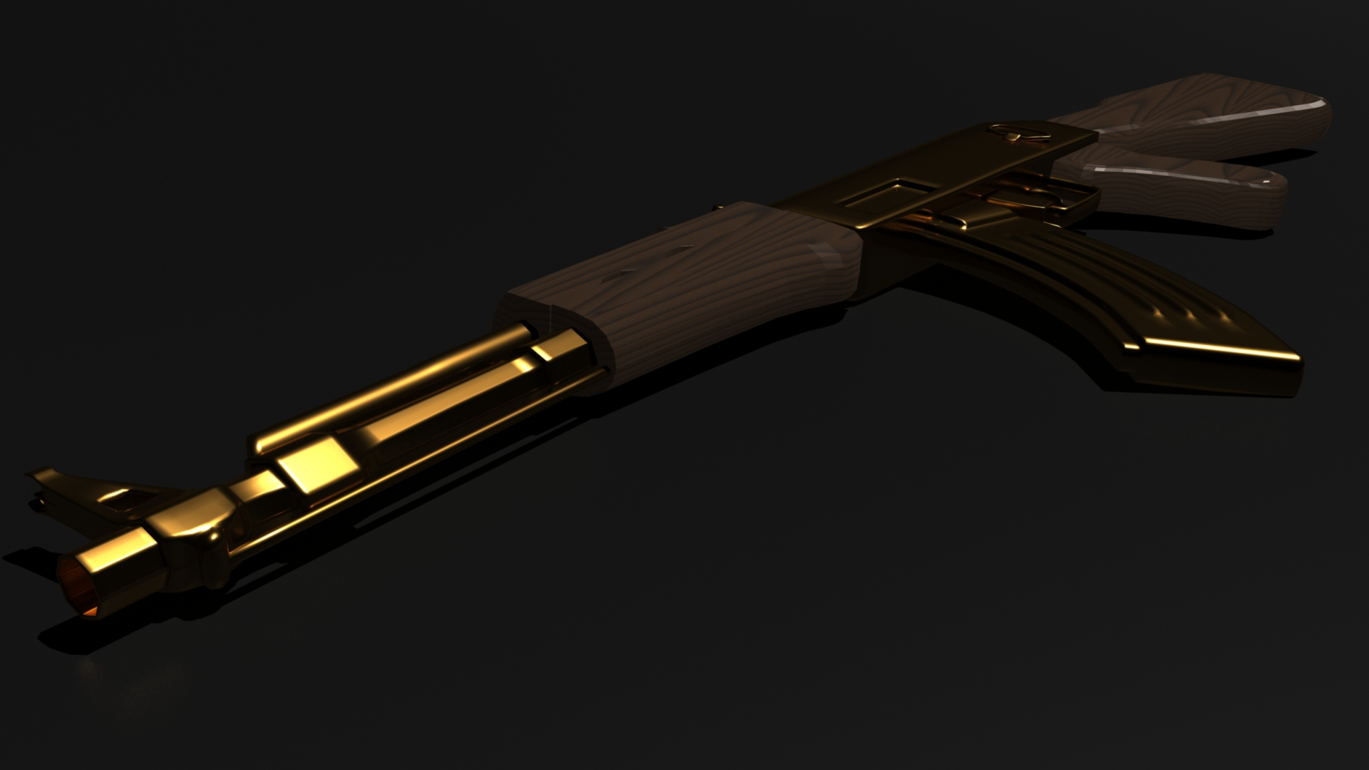 the gallery for gold ak 47 wallpaper