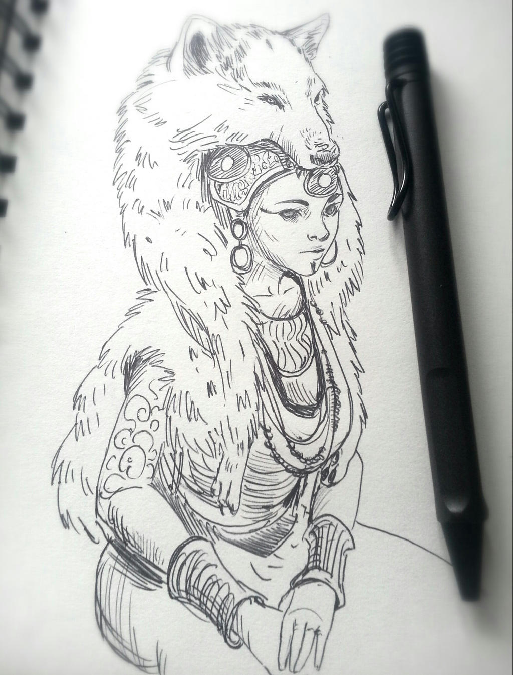 Queen of the Wolf Tribe by JowieLimArt