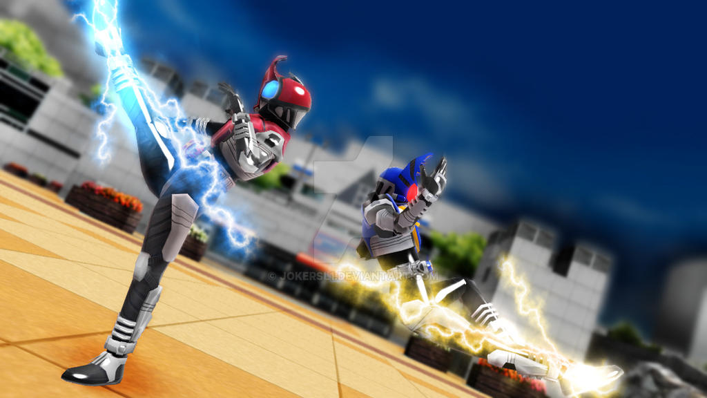 mmd kamen rider kabuto double rider kick by jokersl1 on deviantart