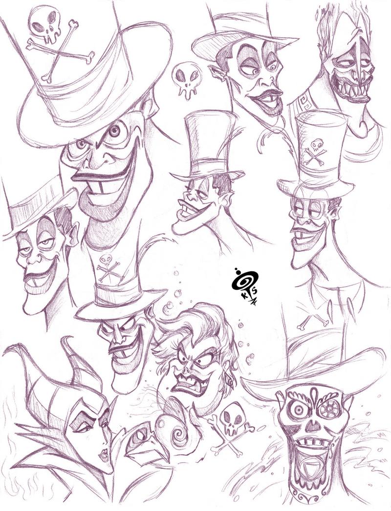 Disney Villains Sketch...