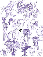 Disney Villains Sketch - 03 by SPIRALCRIS