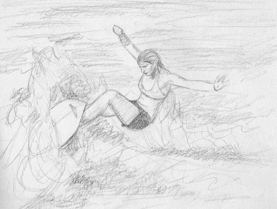 Серфинг рисунки карандаш