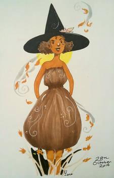 inktober autumn witch