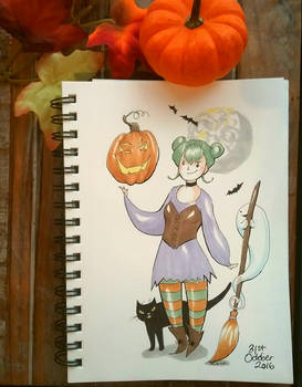 inktober happy halloween