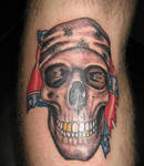 skull confederate flag tattoo