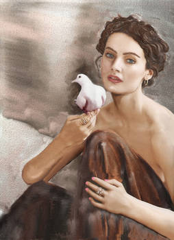 The girl and the bird