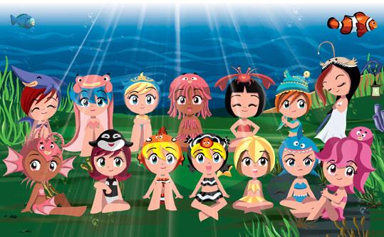 Sea Princesses together by fabioyabu