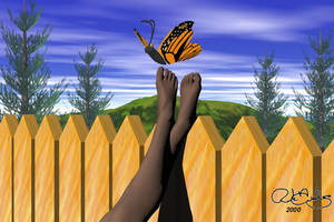 Kenya With Butterfly