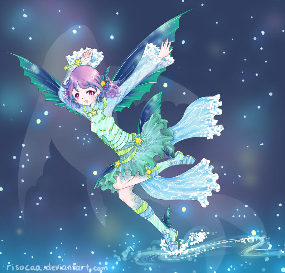 Volans the flying fish constellation by risocaa on deviantart for The flying fish