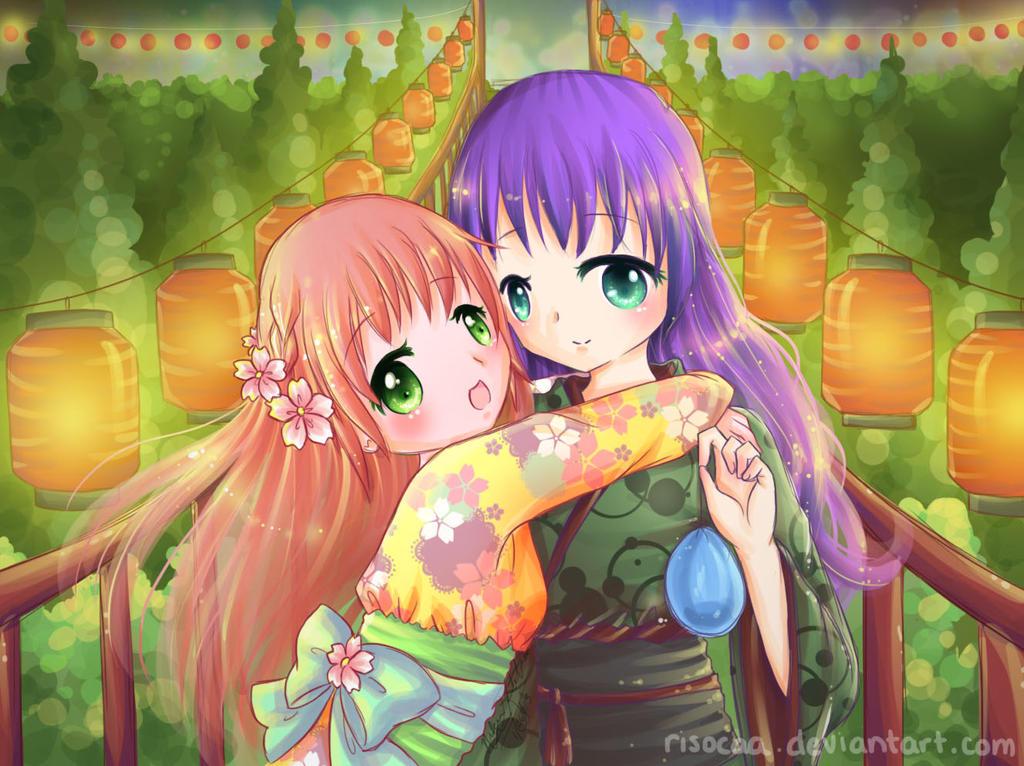Shizuka and Ayame by Risocaa