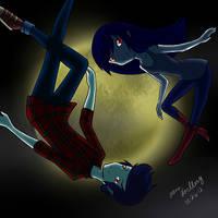 Marceline and Marshall Lee by NekoLover-NekoGirl