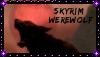 Skyrim Werewolf Stamp by Gay-Space-Pirate