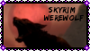Skyrim Werewolf Stamp by KindredGhoul