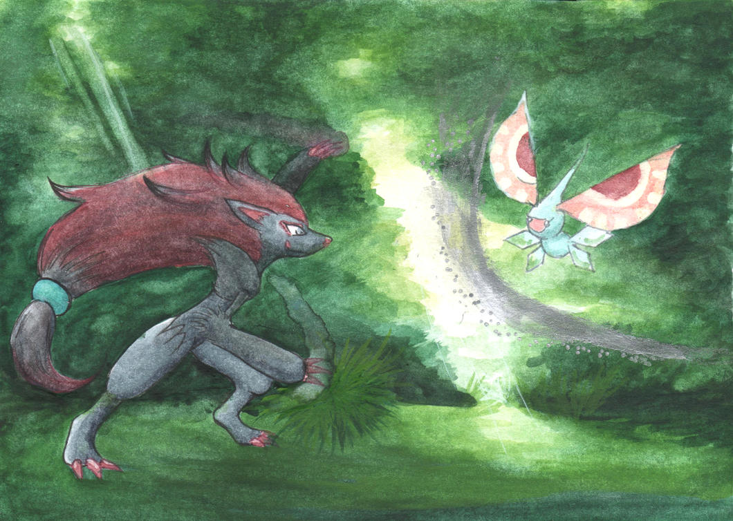 Fight in Forest by Illien-chan