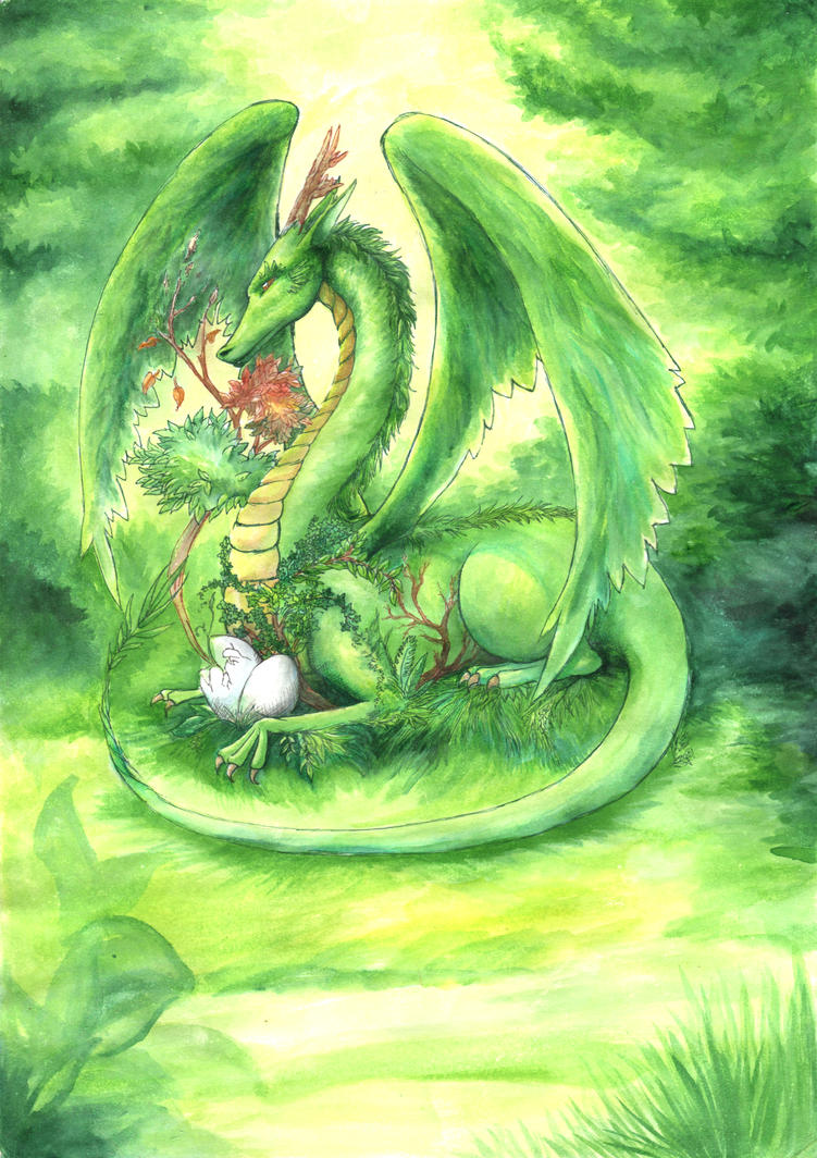 Green Dragon by Illien-chan