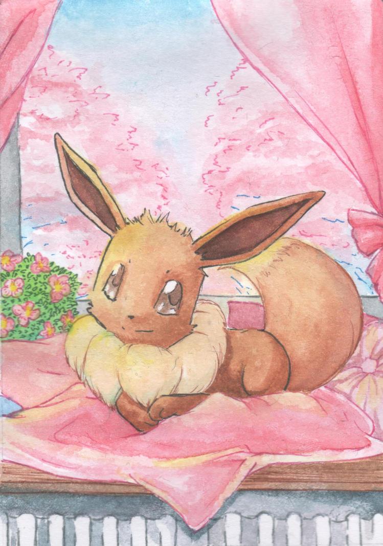 So sweet! Eevee winner card by Illien-chan