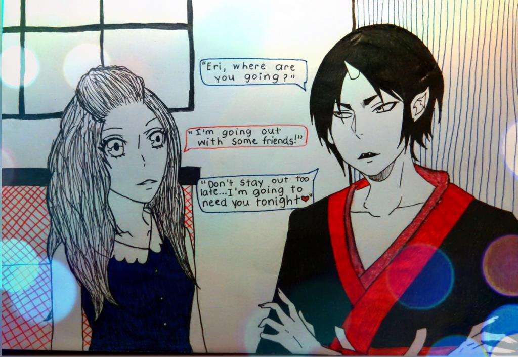 Hoozuki and Eri by vanithelaotian