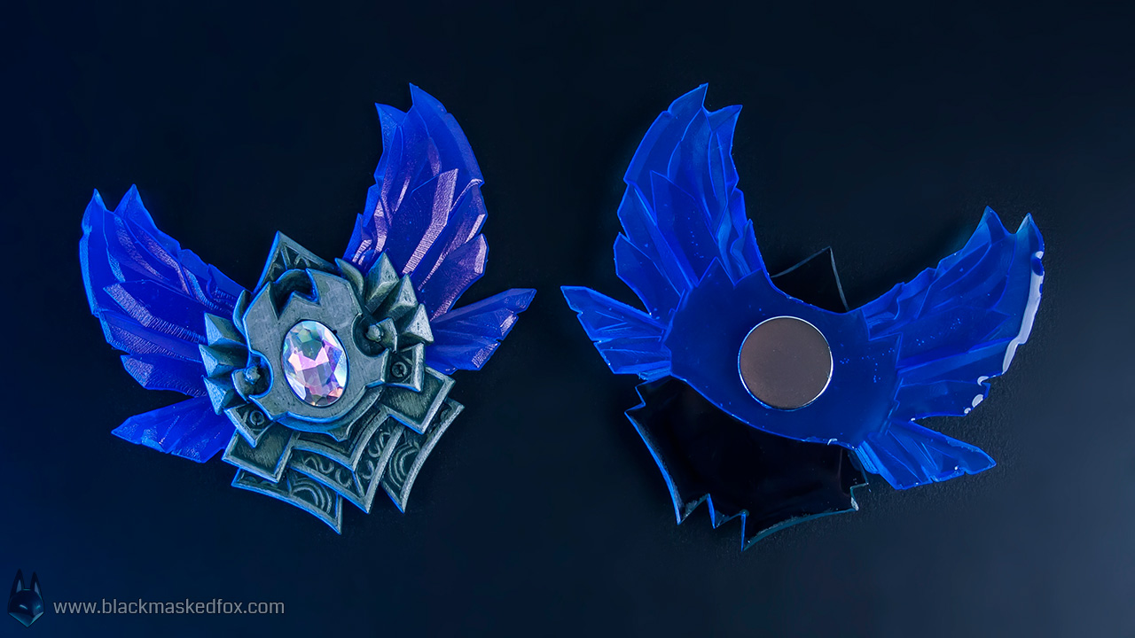 League of Legends Diamond Badge - hand made by blackmaskedfox