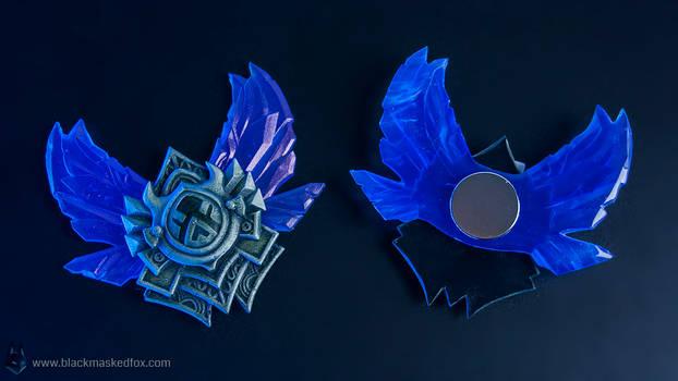 League of Legends small Diamond Badge - hand made