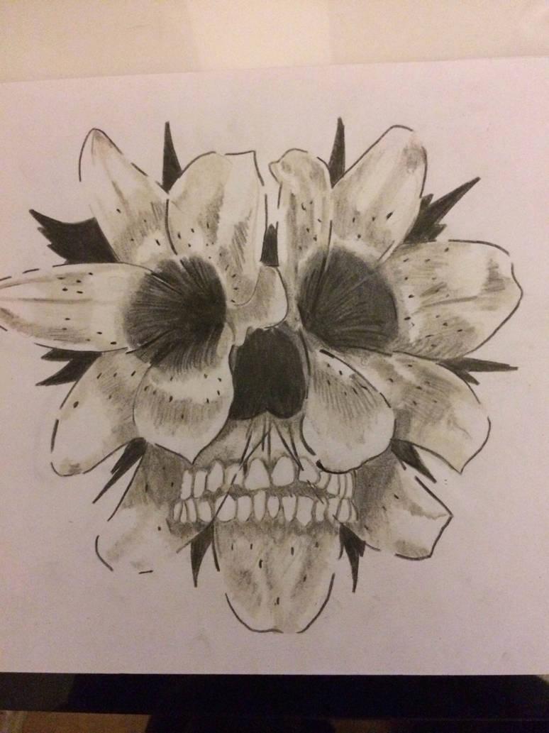 332bd403651a0 Flower Skull Tattoo 1 by snco-art0713 on DeviantArt