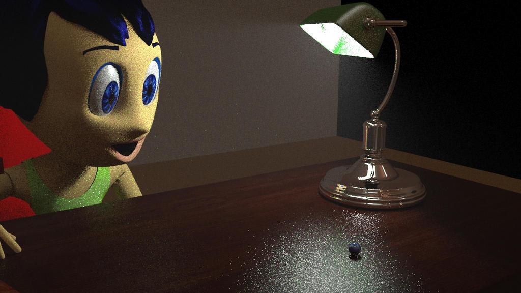 Joy looks at marble ball by yecgaa