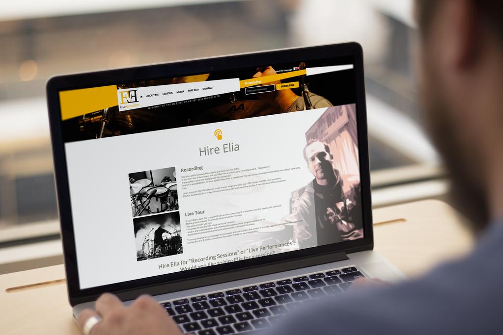 Sito web per musicista by GrazioliDesign
