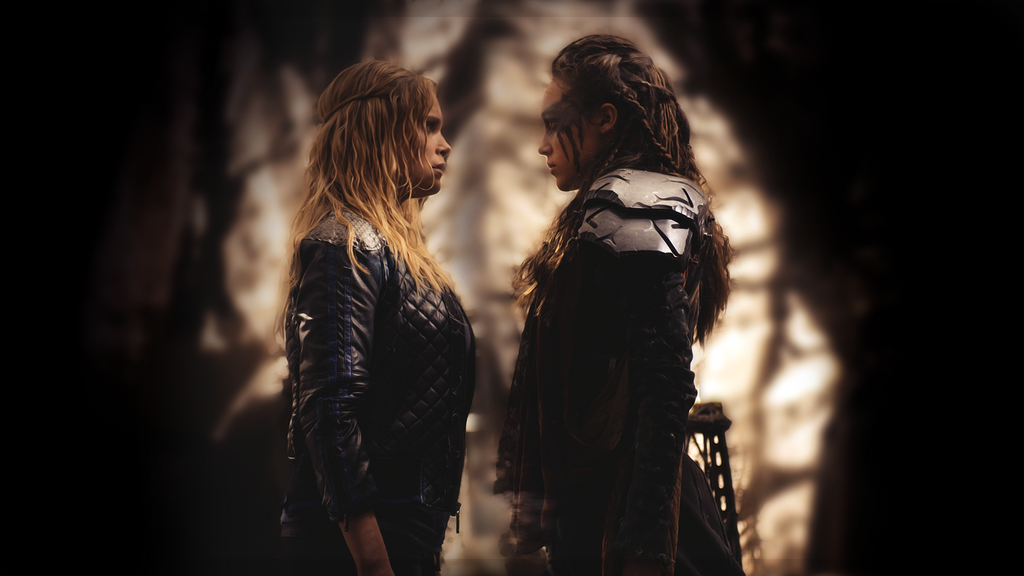 clexa from the 100 wallpaper by amazingfake on deviantart