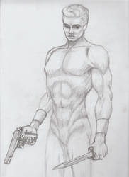 Figure Study with Weapons