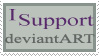 I support deviantART stamp by deviantStamps