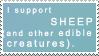 I support Sheep stamp by deviantStamps