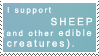 I support Sheep stamp
