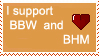 I support BBW and BHM stamp by deviantStamps