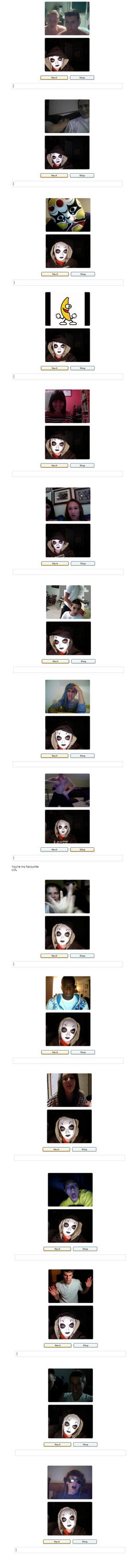 Masky goes on ChatRoulette... by owlehh
