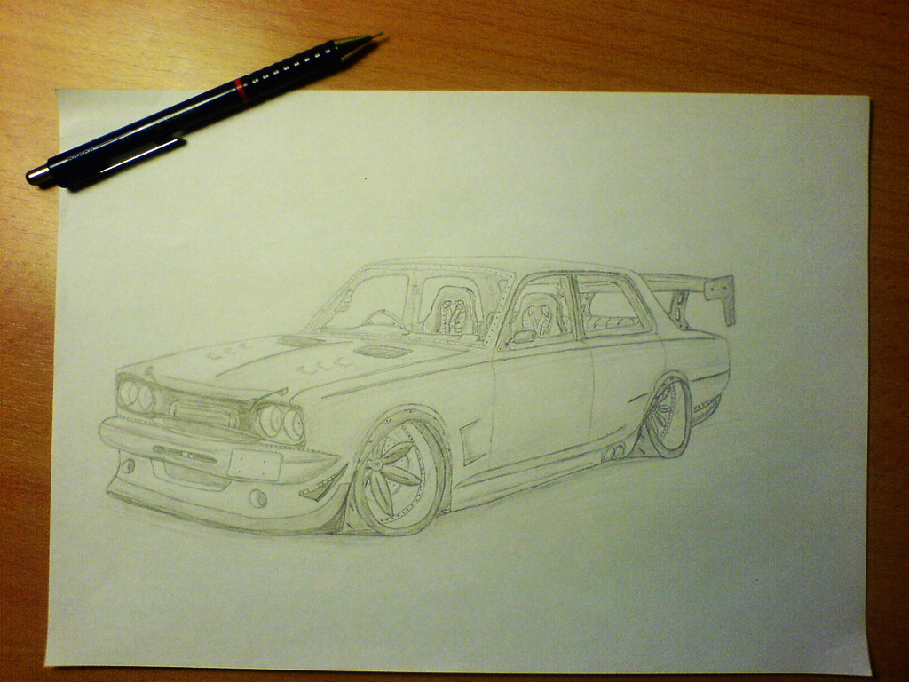 Nissan Skyline '72 draw by