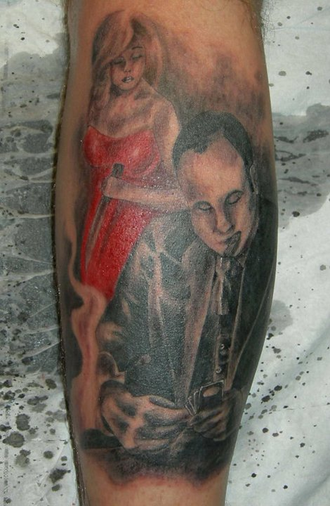 Al capone by tattoo by tim bender on deviantart for Tattoo shops in mobile al