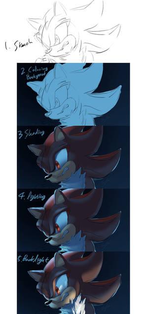 Shadow drawing process