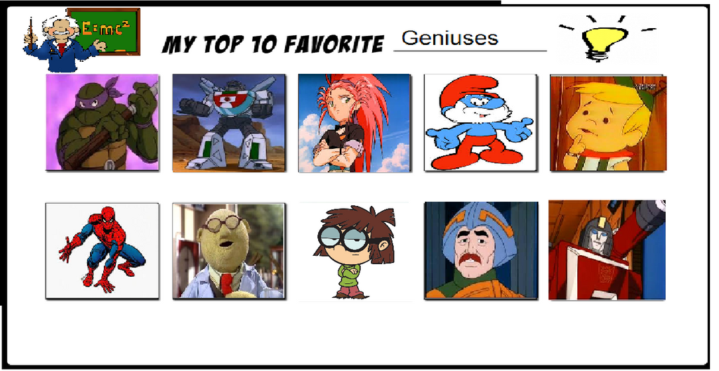 My Top 10 Favorite Geniuses (Updated) by Tatsunokoisthebest