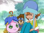 Yokomon and Sora