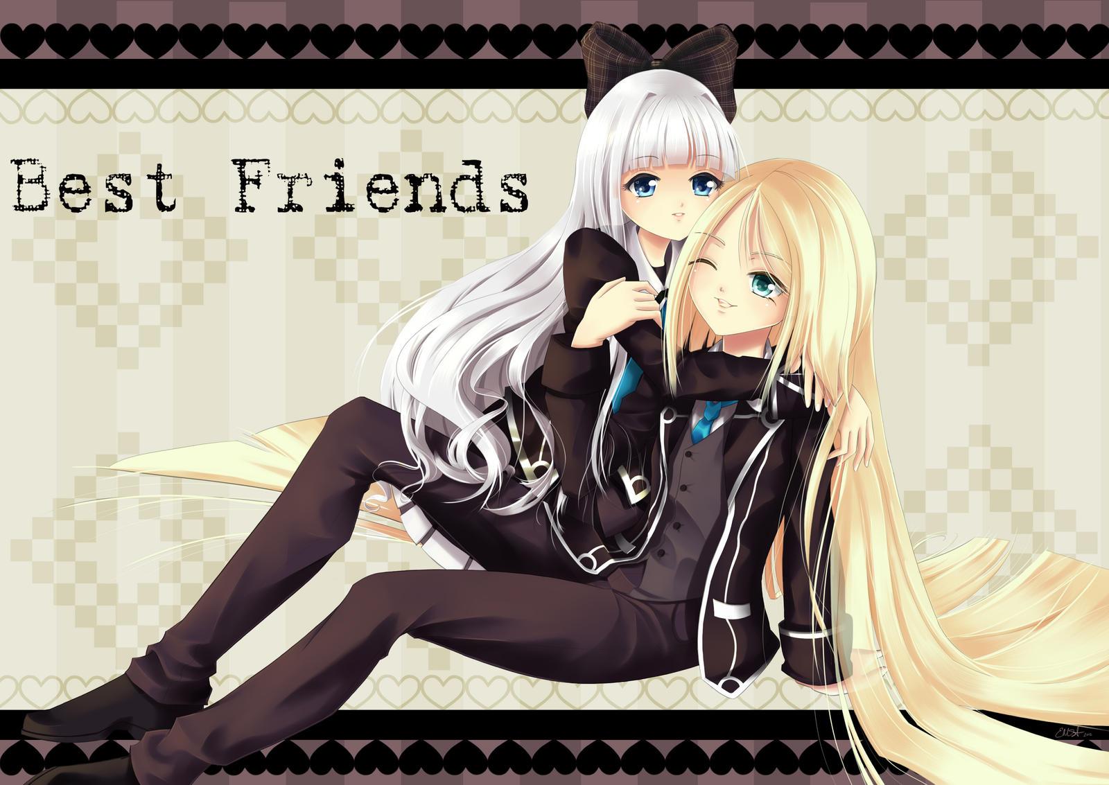 Best Friends     P. Commish for Rhia-Kun by SilverdragonAmai