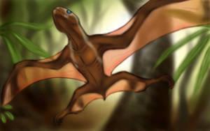 Anurognathus by BardicSpoon