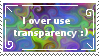 Transparency stamp by BardicSpoon