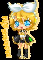 Fanart: Kagamine Rin chibi by bunnymonstur