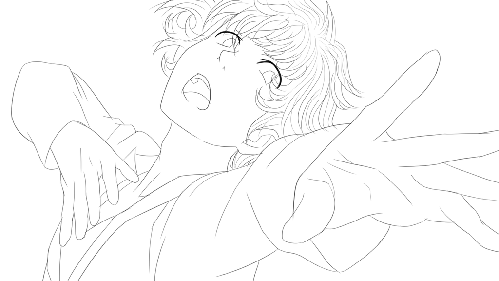 Lineart 3 Midoriya Izuku Deku On Ice By Lizethehedgehog On Deviantart