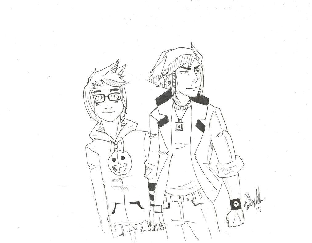 Rokku and KI by Drakenyaze